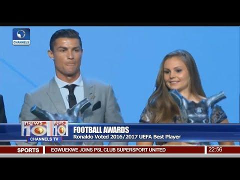 Ronaldo Voted 2016/2017 UEFA Best Player Pt 4 | News@10 |
