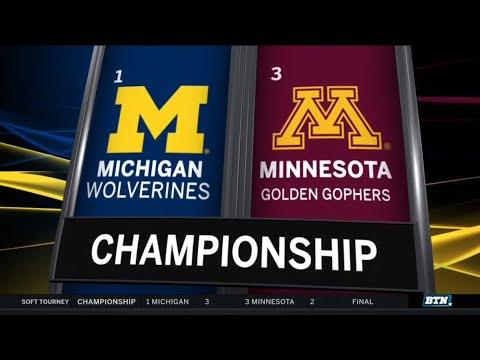 Michigan edges Minnesota to claim 10th Big Ten softball tourney title