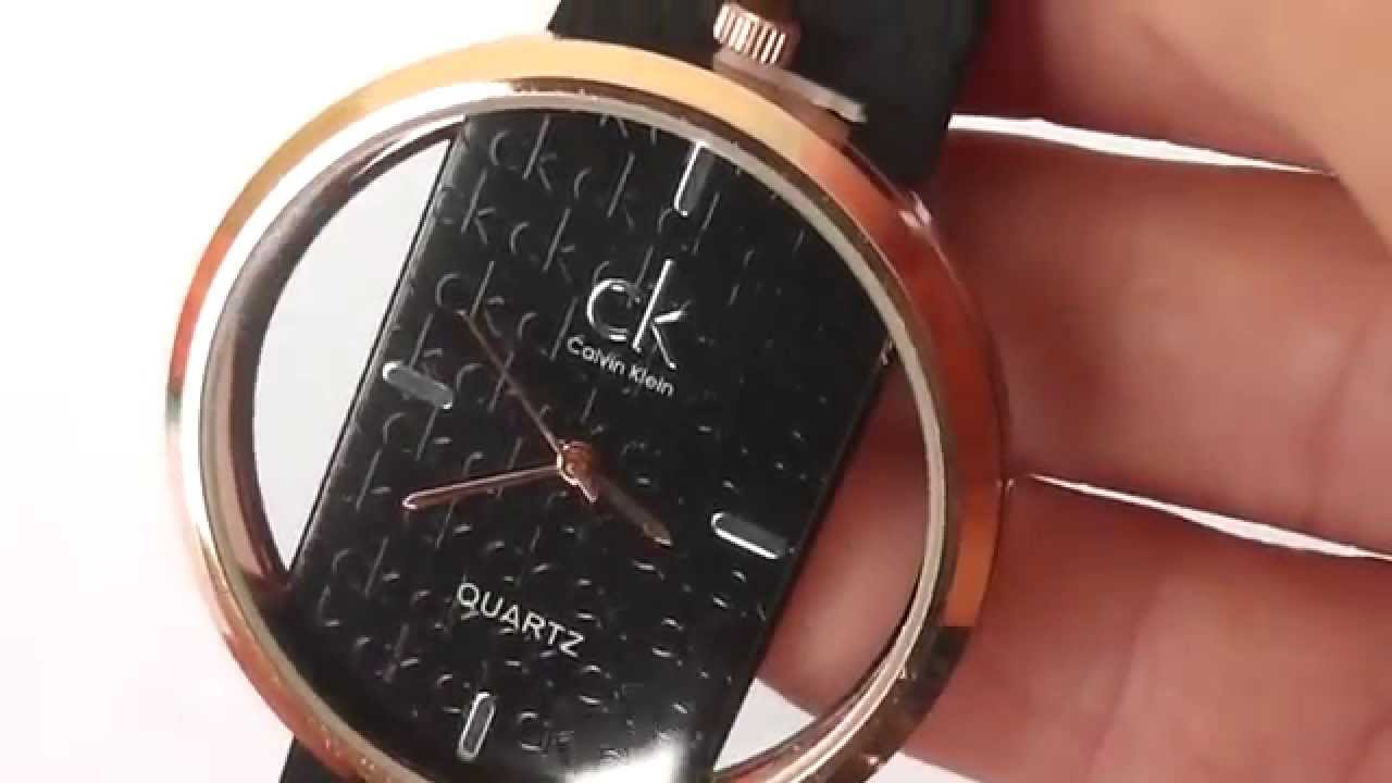 Calvin Klein Ladies' Mirror Watch (K2823130) - YouTube