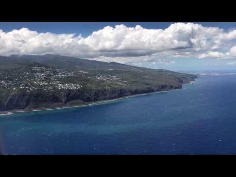 Atterrissage Saint Denis de La Réunion 21/12/2016 Air France 777-300