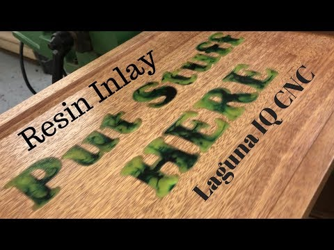 Lathe Tool Caddy with Alumilite Resin Inlay // Laguna IQ CNC