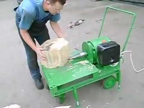 Рабочая часть дровокола. Винт для колки дров с левой резьбой. Диаметр 6, 5 см.