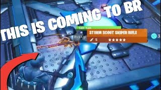 *STORM SCOUT SNIPER RIFLE GAMEPLAY* Fortnite Battle royale] [NEW BR GUN LEAKED]