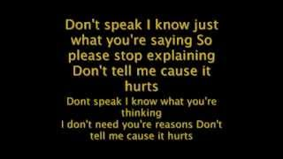 No Doubt - Dont Speak - Reggae Version lyrics