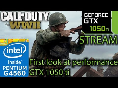Call of Duty WW2 SP - GTX 1050 ti + G4560 Benchmark - FULL GAME Finding the biggest performance hit!