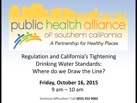 Regulation and California's Tightening Drinking Water Standards: Where Do We Draw the Line?