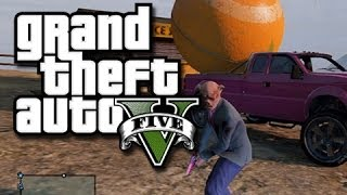 GTA 5 Online Multiplayer Funny Moments!  (Big Ball in a Big Truck, Tanks, and Skate Park Fun!)
