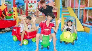 Kids Drive Wheelbarrow & Trolley Toys Indoor Playground ABC SONG w/ Song for Childrens
