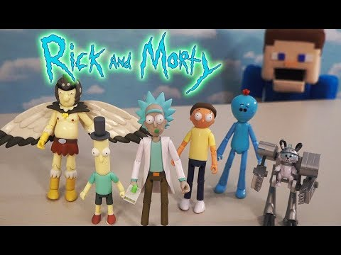 Rick and Morty Funko Action Figures Articulated Spooky Set Unboxing  Puppet Steve