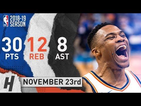 Russell Westbrook EPIC Highlights Thunder vs Hornets 2018.11.23 - 30 Pts, 12 Reb, BEAST MODE!