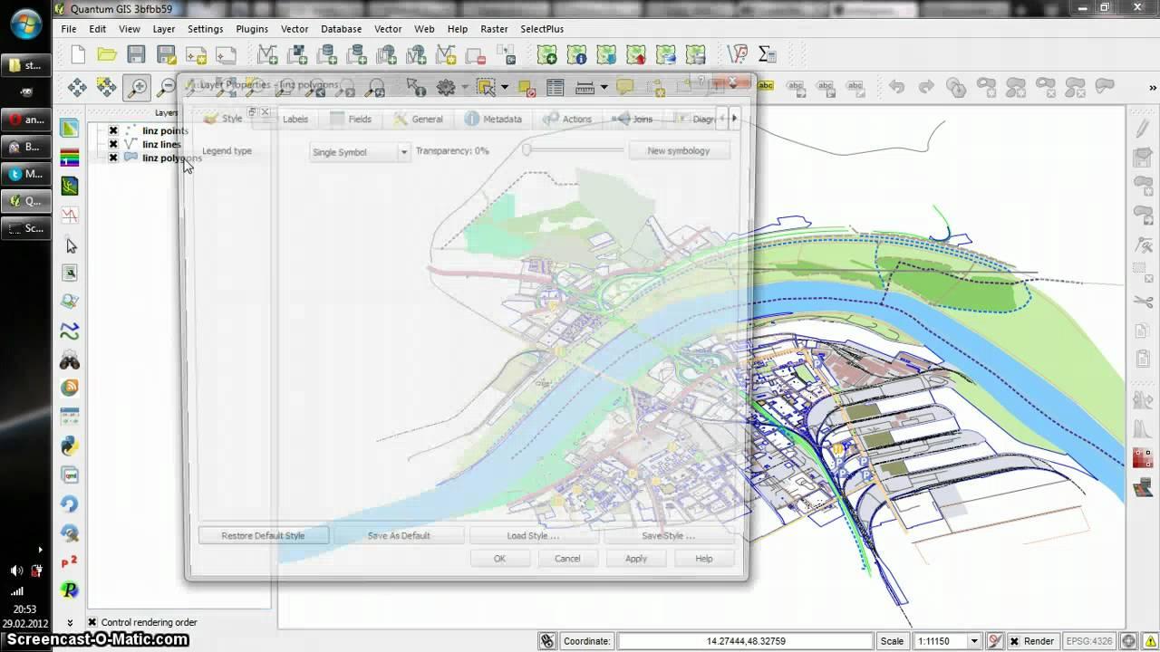 Applying OSM Light styles in QGIS