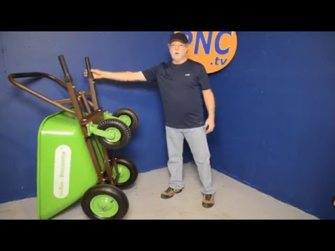 The Real-Wheelbarrow Heavy-Duty 4 Wheel Wheelbarrow with brakes
