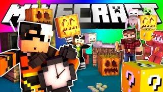 Minecraft Do Not Laugh | SPOOKY SKELETONS AND HALLOWEENIES (GAME)