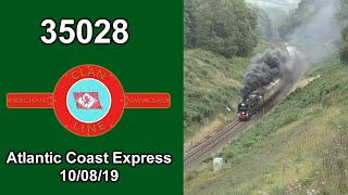 35028 'Clan Line' On The Atlantic Coast Express 10/08/19