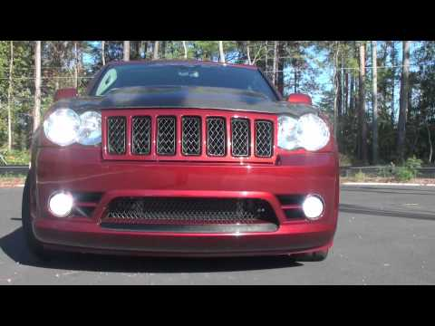 2010 Jeep Grand Cherokee Srt8 >> Jeep SRT-8 Complimented with Black Ops Auto Works Carbon Fiber Venom hood and MORE! - YouTube