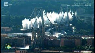 La demolizione del ponte Morandi - Unomattina Estate 28/06/2019