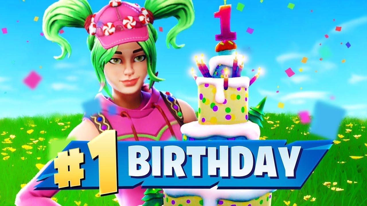 fortnite happy birthday HAPPY BIRTHDAY Fortnite Battle Royale!   YouTube fortnite happy birthday