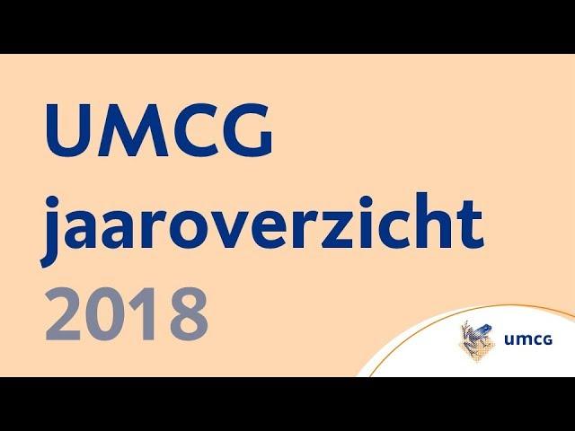 UMCG jaaroverzicht 2018