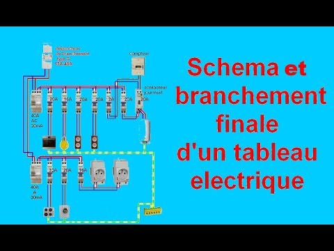 sch ma branchement c blage tableau electrique maison youtube. Black Bedroom Furniture Sets. Home Design Ideas