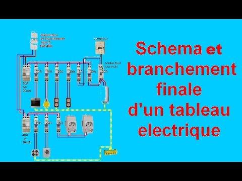 schéma branchement câblage tableau electrique maison - YouTube - Photo Tableau Electrique Maison