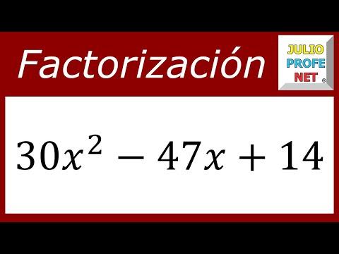 FACTORIZACIÓN DE TRINOMIOS DE LA FORMA Ax²+bx+c - Ejercicio 4