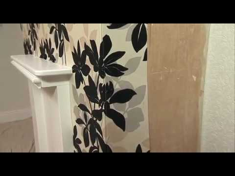 How to apply wallpaper around corners youtube - Wallpapering around a curved corner ...
