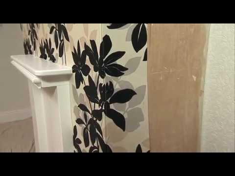 How to: apply wallpaper around corners - YouTube