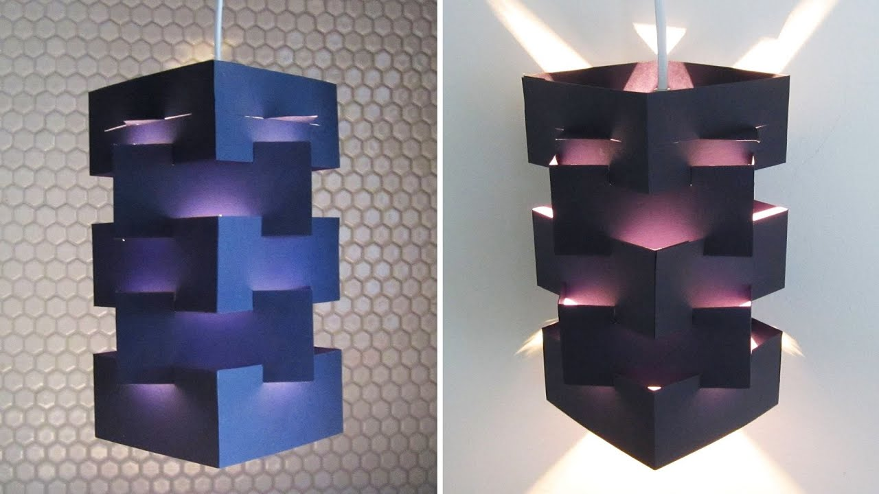 DIY lamp for pendant light - learn how to make a lampshade ...