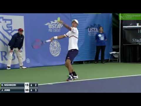 Kei Nishikori vs Jason Jung   SF Dallas ATP Challenger