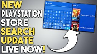 NEW PlayStation Store Search UPDATE Live NOW! Get a Great PS4 Game Demo NOW!