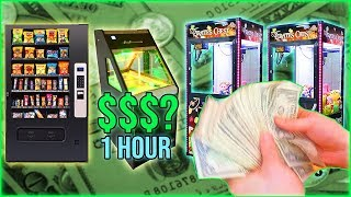 Vending Machine Business: How Much Did We Collect In One Hour?
