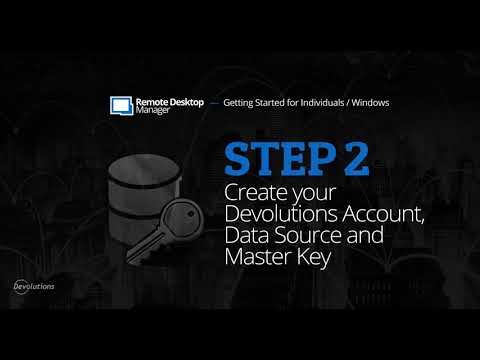 Step 2: Create your Data Source - Getting Started with Remote Desktop Manager for Individuals