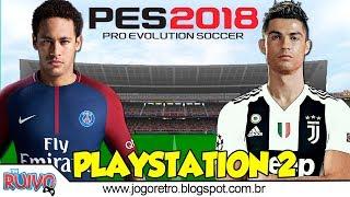 Pro Evolution Soccer 2018 UPDATE (Cristiano Ronaldo na Juventus) no Playstation 2