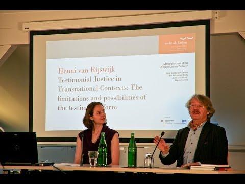 Honni van Rijswijk - Testimonial Justice in Transnational Contexts
