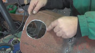 как прорезать ровное отверстие в металле болгаркой