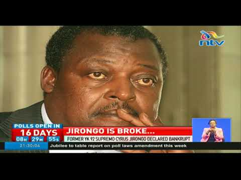 Cyrus Jirongo is bankrupt
