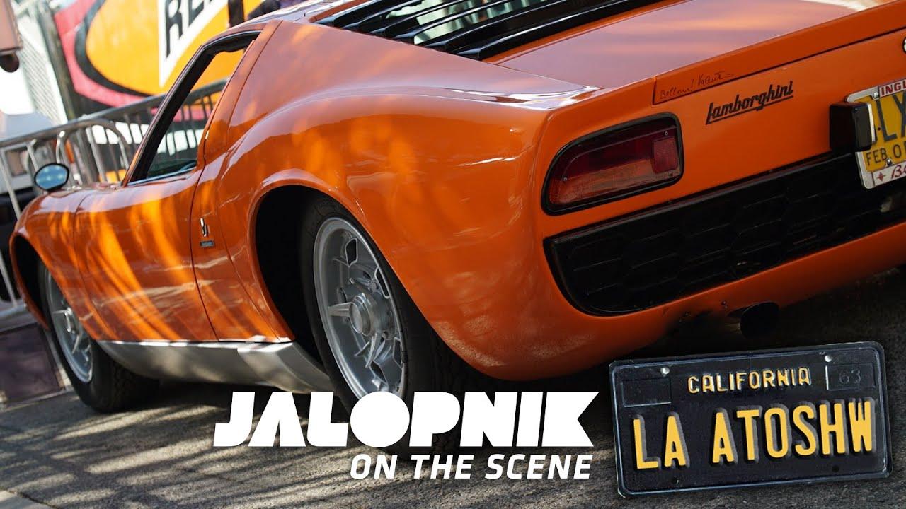 We Loved This Old Alfa And Lamborghini Miura At The La Auto Show