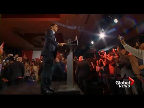 Federal Election 2015: Justin Trudeau's full acceptance speech following towering win