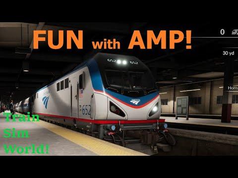 Amtrak Northeast Corridor in Train Sim World!!  