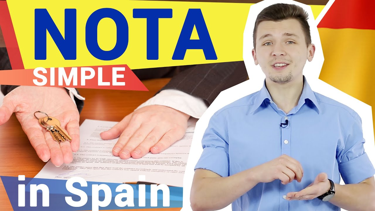 How to get Nota Simple and where do you need it