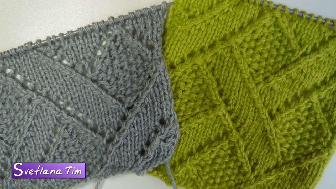 Меланжевый пуловер спицами Ажурные Узоры 82