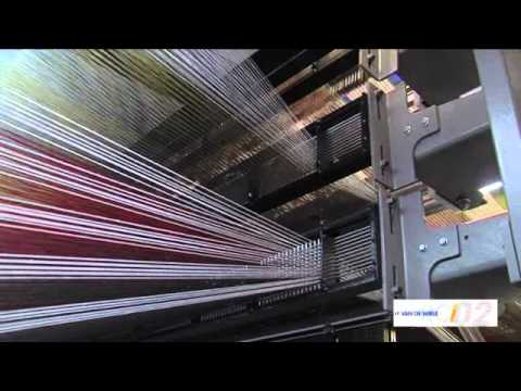 Rci02 Vandewiele Carpet Weaving Machine Youtube