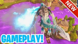 *NEW* FROSTWING DRAGON GLIDER GAMEPLAY (SOUNDTEST) FORTNITE BATTLE ROYALE