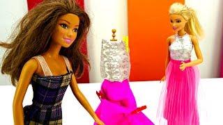 Шьем платье для Барби. Игры для девочек