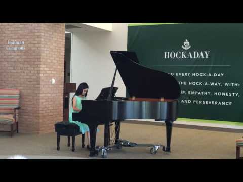 Tianxin at the Hockaday School Piano Festival May 2016