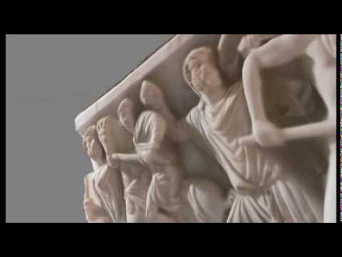 A relief of a Roman Sarcophagus