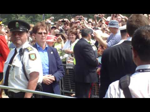 Queen Elizabeth visits Queen's Park in Toronto