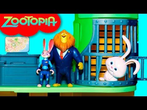 ZOOTOPIA Disney Zootopia Police Station Break + FROZEN Olaf + Secret Life of Pets Snowball