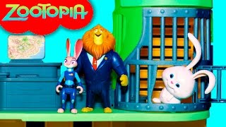 ZOOTOPIA Disney Zootopia Police Station Jail Break + FROZEN Olaf + Secret Life of Pets Snowball Jail