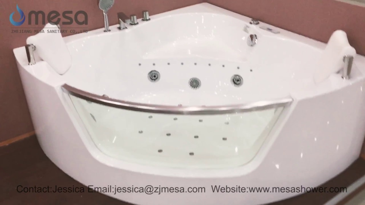 Luxurious 2 Person Corner Sector Acrylic Whirlpool Mage Jacuzzi Bath Tub C 448 By Mesa